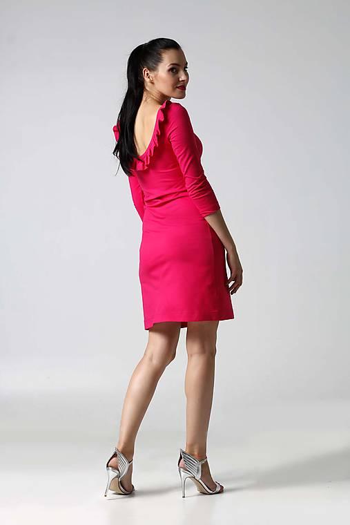 Šaty - Šaty simple s volánikom na chrbte - 9996374_