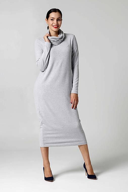cd02e6decd82 Šaty svetríkové midi bledo šedé   ZuzanaZachar - SAShE.sk - Handmade ...