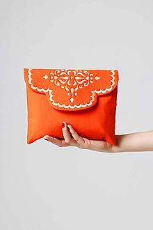 Kabelky - Kabelka listová oranžová - 9996553_