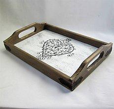 """Nádoby - Drevený podnos- """"Tóny srdca"""" - 9996780_"""