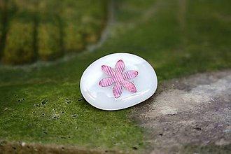 Odznaky/Brošne - Brošňa zo skla - Medený kvet - 9994582_