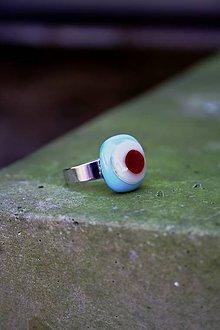 Prstene - Sklenený prsteň - Rybie očko 1 - 9994717_