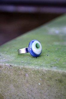 Prstene - Sklenený prsteň - Rybie očko 3 - 9994758_