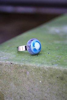 Prstene - Sklenený prsteň - Rybie očko 4 - 9994787_