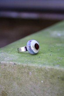 Prstene - Sklenený prsteň - Rybie očko 5 - 9994832_