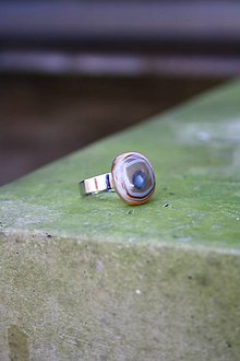 Prstene - Sklenený prsteň - Rybie očko 7 - 9994852_