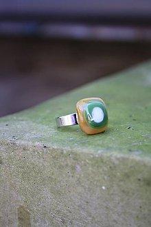 Prstene - Sklenený prsteň - Rybie očko 8 - 9994855_