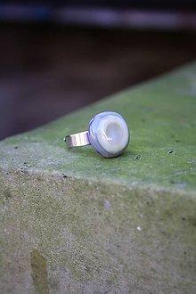 Prstene - Sklenený prsteň - Rybie očko 9 - 9994862_