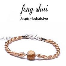 Náramky - feng-shui BOHATSTVO jaspis - 9996054_