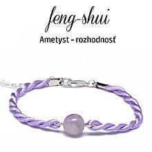 Náramky - feng-shui ROZHODNOSŤ - ametyst - 9996096_
