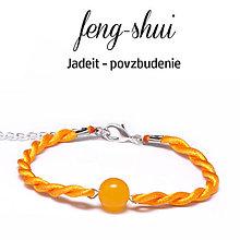 Náramky - feng-shui POVZBUDENIE - jadeit - čistá šnúrka - 9996106_