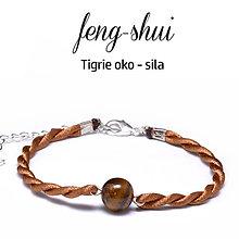 Náramky - feng-shui SILA - tigrie oko - 9996120_