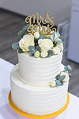 Zápich na tortu MR&MRS