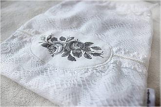 Úžitkový textil - Flowers vrecko SKLADEM - 9993543_