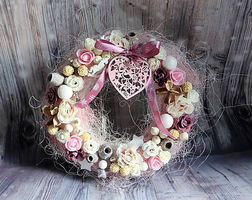 1852a59c2 VINTAGE zimný veniec (Ružová srdce) / katusha.handmade - SAShE.sk ...