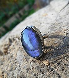 Prstene - Strieborný Prsteň s Labradoritom - 9995357_