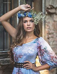 Ozdoby do vlasov - Bohato zdobený kvetinový venček z kolekcie pre Lydiu Eckhardt - 9997407_