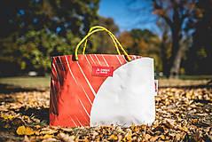 Veľké tašky - Úsmev ako dar - DORKA bag (Oranžová zebra) - 9995842_