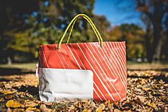Veľké tašky - Úsmev ako dar - DORKA bag (Oranžová zebra) - 9995843_