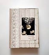 Diár Ručne šitý sketchbook * zápisník ,,Moon