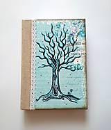 Ručne šitý sketchbook * zápisník * diár s autorskou kresbou A5