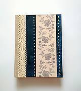 Diár Ručne šitý folk sketchbook * zápisník ,,Folk