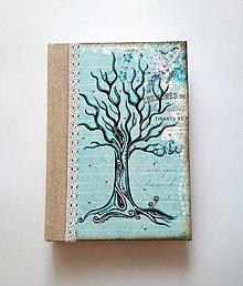 Papiernictvo - Diár 2020 * zápisník čistý/linajkový * autorská kresba stromu A5 - 9994867_