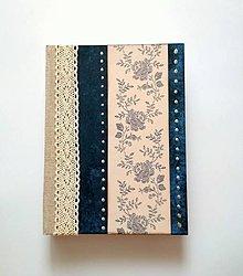 """Papiernictvo - Diár Ručne šitý folk sketchbook * zápisník ,,Folk"""" A5 - 9994883_"""