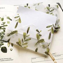 Papier - polopriehľadná papierová obálka Halúzky - 9996825_