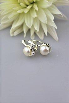 Náušnice - perly pravé náušnice luxusné - 9996833_