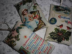 Dekorácie - Vianočné ozdoby textilné. - 9995961_