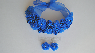 Sady šperkov - Kvetinová sada - náhrdelník a náušnice Gloria - 9994325_