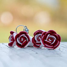 Sady šperkov - červeno-biela sada kompletná - 9994355_