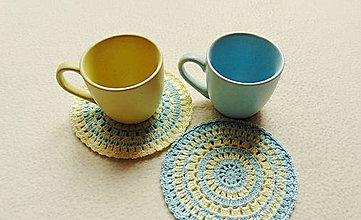 Úžitkový textil - Šálka vo dvojici - 9994476_