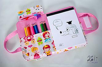 Detské tašky - Detský kufrík - pastelkovník Princezná - 9997094_