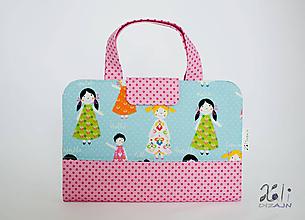 Detské tašky - Detský kufrík - pastelkovník Dievčatá modré I. - 9997132_