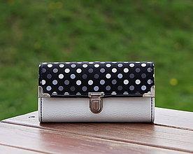 Peňaženky - Peněženka s puntíky, 18 karet, velice prostorná - 9995565_