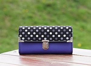 Peňaženky - Peněženka s puntíky, 18 karet, velice prostorná - 9995625_