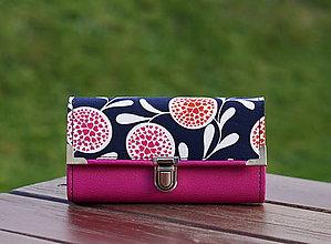 Peňaženky - Peněženka srdíčka 19x10cm, 12 karet, na fotky - 9995797_