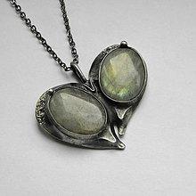 Náhrdelníky - cínový šperk s minerálom ...Srdiečko... - 9995373_