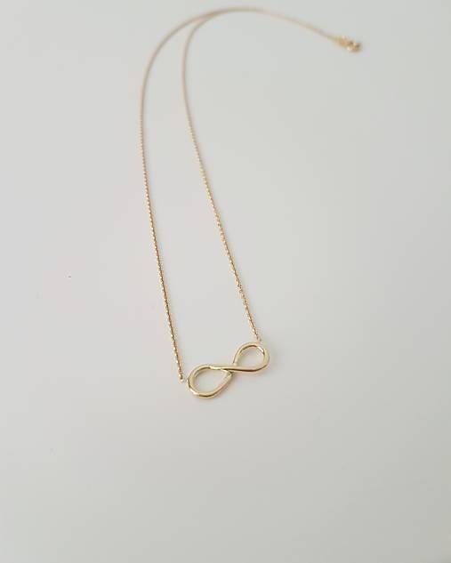 a44fa3615 Náhrdelník Infinity žlté zlato / Motivo - SAShE.sk - Handmade ...