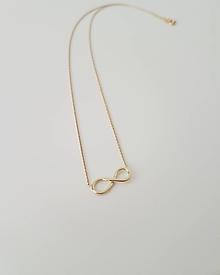 Náhrdelníky - Náhrdelník Infinity žlté zlato - 9993486_