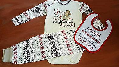 Detské oblečenie - Vianočné body s polodupkami. - 9994473_