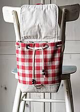 Batohy -  Károvaný mini batôžtek  - 9993767_