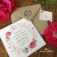 Papiernictvo - Svadobné oznámenie ~Natural Rose~ - 9994767_