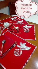 Úžitkový textil - Vianočné prestieranie červené - 9996435_
