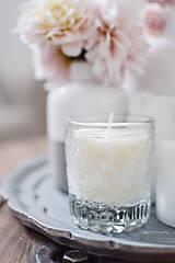 - Sójová sviečka v recyklovanom skle