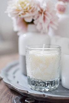 Svietidlá a sviečky - Sójová sviečka v recyklovanom skle
