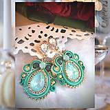 Náušnice - Smaragdovo - zelené, náušnice - 9994228_