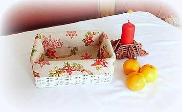 Košíky - Košík vianočný (košík 23 x 19 v 9 cm) - 9994424_